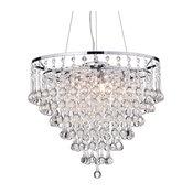 Kailee 5-Light Cascading Crystal Chandelier Chrome Ceiling Fixture Glam