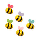 5-Piece Lovely Bees Style Fridge Magnets Durable and Practical Magnets