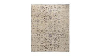 Beautiful Designer Reserve Ivory Hand Knotted Tibetan Silk Rug