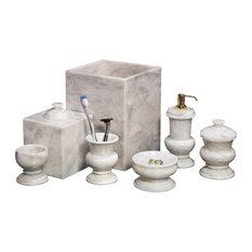 Shop bathroom accessories capiz wastebasket products on houzz for Bathroom wastebasket sets