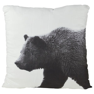 Black and White Bear Scatter Cushion