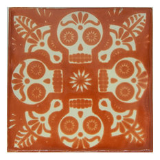 Individual Piece Mexican Talavera Handmade Tile, Day of the Dead, Sample
