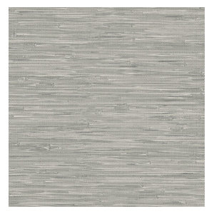 Faux Gray Grasscloth Peel and Stick Wallpaper, 4 Rolls