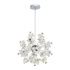 Blossom 25-Light LED Chandelier, Chrome