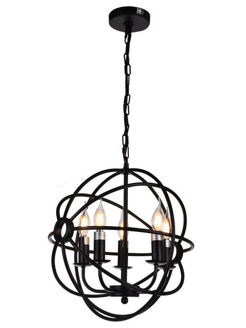 JL Styles Inc - Cronus 5-Light Pendant - Pendant Lighting