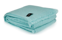Mohair Throw Blanket by Cape Mohair, Duck Egg, Light Blue
