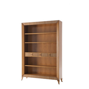 Open Bookcase With 2 Drawers, Champagne