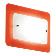 Pop-Up Small Flush-Mount Wall Light, Orange