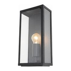 Mersey Outdoor Lantern Wall Light, Black
