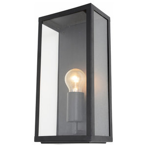 Mersey Outdoor Lantern Wall Light, Black
