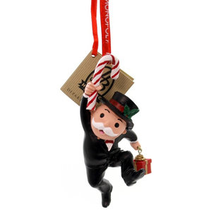 Holiday Ornaments Mr Monopoly With Candy Cane Polyresin Hasbro 4057985