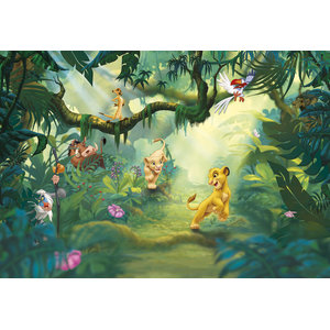 Disney The Lion King Jungle Photo Wall Mural, 368x254 cm