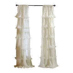Nerina Window Curtain, Ivory