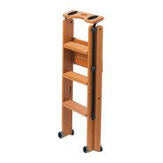 Tuscania Cherry Safety Step Ladder, 3 Steps