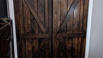 By-pass custom barn doors
