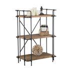 GDF Studio Brooklyn 3-Shelf Bookcase