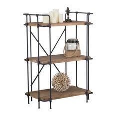 Brooklyn Industrial 3 Shelf Firwood Bookcase