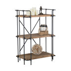 Denise Austin Home Brooklyn 3-Shelf Bookcase