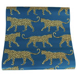 """Adornshoppe - Leopard Teal Wallpaper by Clairebella, Sample - Our Leopard wallpaper will add colorful style to your space. Each double roll measures 24"""" wide x 30' long. Digitally printed on top quality, durable, pre-pasted paper for easy installation and removal. Samples are available. Please allow 10-14 days for delivery, as wallpaper is custom printed upon order. Made in the USA."""