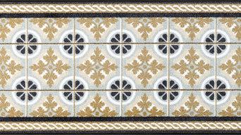 Kitchen Tiles Door Mat, 180x60 cm