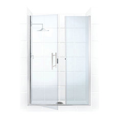 "Illusion Frameless, Hinge Door and Panel, Chrome, 58""-59""x70"""