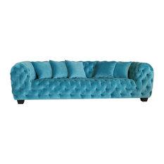 Pasargad Home - Casa Milano Collection Velvet Tufted Sofa - Sofas
