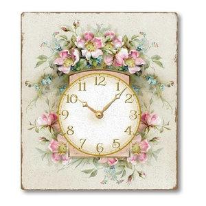 Vintage-Style Romantic Roses Clock