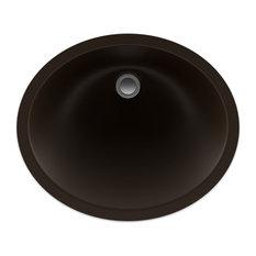 Lexicon Platinum V210 Quartz Composite Oval Vanity Sink - Mocha