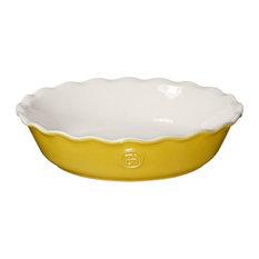 Emile Henry Leaves Ceramic 9 Inch Pie Dish
