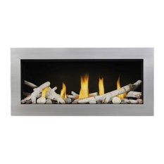 Vector LV38 Direct Vent See-Thru Gas Fireplace Package2