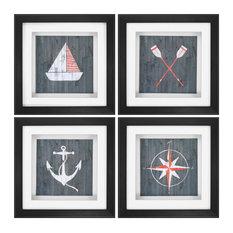 Nautical Plank (Set of 4) - 3794