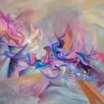 "Gallerique - ""Tripping the Light Fantastic"",Acrylic Painting - Name: Tripping the Light Fantastic"