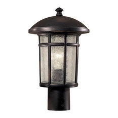 """The Great Outdoors Cranston 15"""" Outdoor Post Light in Heritage"""