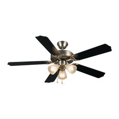 Most popular modern ceiling fans for 2018 houzz hardware house 3 light 52 palladium triple ceiling fan silver black mozeypictures Images