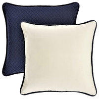Navy Euro Sham with Reversible Canvas Back