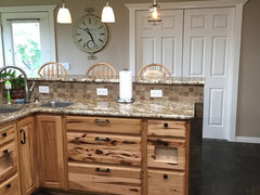 should i paint my hickory cabinets white rh houzz com