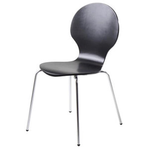 Marcos Dining Chair, Set of 4, Black Lacquer