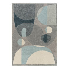 Well Woven Mystic Orion Mid-Century Modern Vintage Geometric Blue Area Rug
