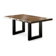 Furniture of America Buntix Dining Table in Tobacco Oak