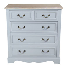 Charles Bentley Grey Loxley Vintage Solid Wood Chest of Drawer Cabinet Sideboard