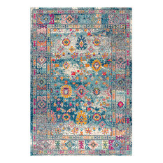 Bohemian FLAIR Boho Vintage Faded Navy/Cream 8' x 10' Area Rug