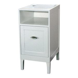 Snow 18 wood and porcelain single vanity set - Contemporary bathroom vanities without tops ...
