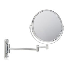 Jerdon JP7506BZ 8-Inch Two-Sided Swivel Wall Mount Mirror with 5x Magnification