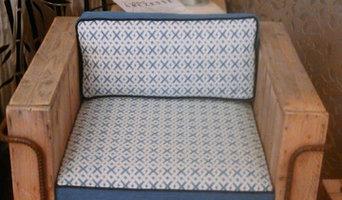 fauteuil d'extérieur , et création de coussins