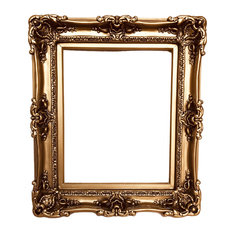 "20""x24"" Shabby Chic Bronze Frame, Decorative Ornate French Frame"