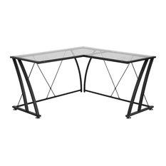 50 Most Popular Glass L Shaped Desks For 2019 Houzz
