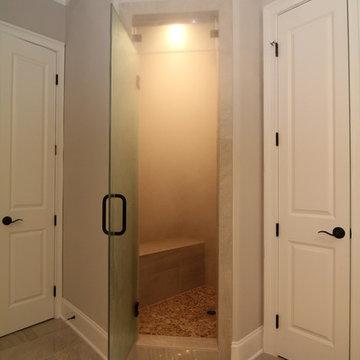 Luxury sauna shower design