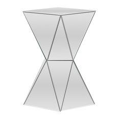 Rebecca Contemporary Multi-Faceted Mirrored Side Table