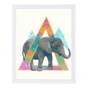 """""""Elephant1,"""" Art Print, 9""""x11""""x1"""""""