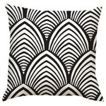 Black and White Shell Pattern Pillow, Adult Coloring Book Series, Extra Large - Adult coloring books are all the rage right now. Add to your home decor with this fun conversational piece.